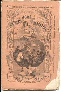 Arthurs Home Magazine 10/1869-almost 150 years old-post Civil War-G/VG