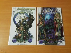 Lady Pendragon More Than Mortal Adversaries 1-2 Complete Set Run! ~ NEAR MINT NM