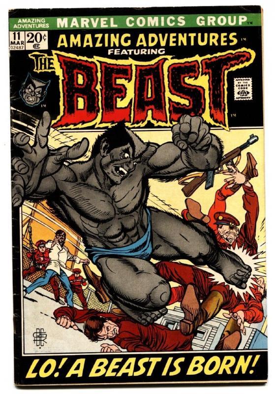 Amazing Adventures #11 comic book 1972 marvel First furry beast x-men