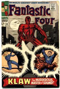 FANTASTIC FOUR #56-KLAW-JACK KIRBY ART-MARVEL VG.