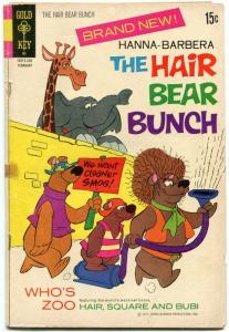 HANNA-BARBERA-THE HAIR BEAR BUNCH #1-1971--ANIMATED TV G
