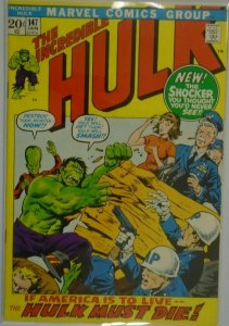 The Incredible Hulk #147 - 4.0 VG - 1972