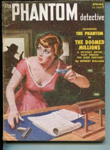 Phantom Detective Spring 1952-Thrilling-hero pulp-mystery-commies-Wallace-G