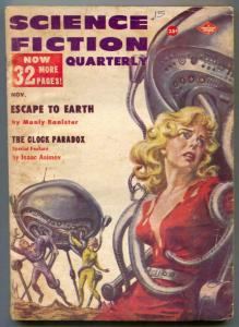 Science Fiction Quarterly Pulp November 1957- headlight cover