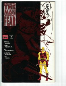 Daredevil The Man without Fear #5 FN signed by John Romita Jr. - Marvel 1994