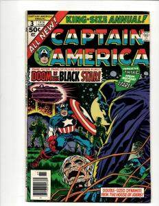 Captain America Annual # 3 VF Marvel Comic Book Falcon Jack Kirby Avengers J371