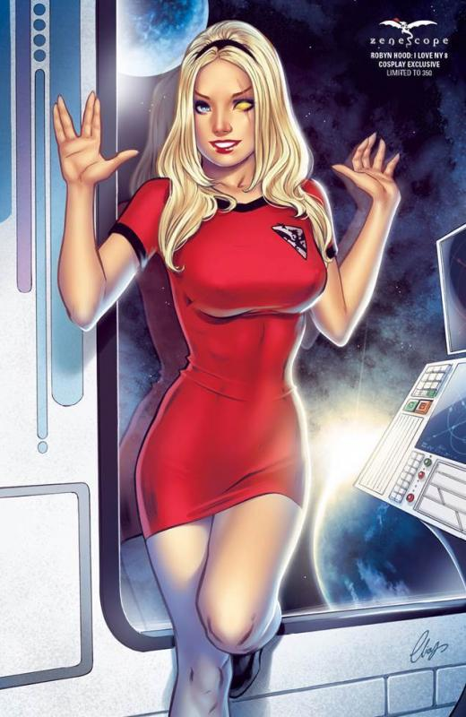 Grimm Fairy Tales Robyn Hood I Love NY #8 1/350 Star Trek Cosplay Exclusive NM