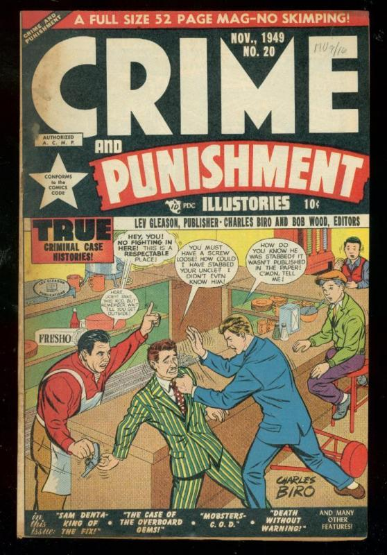 CRIME AND PUNISHMENT #20 1949-CHARLES BIRO-VIOLENCE FN/VF