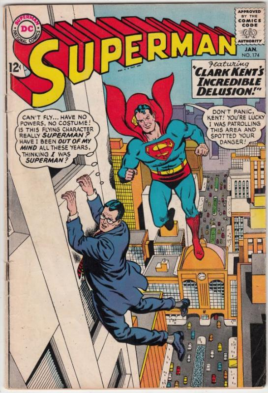 Superman #174 (Jan-65) FN+ Mid-Grade Superman, Jimmy Olsen,Lois Lane, Perry W...