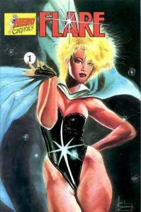 Flare (1990 series) #1, NM- (Stock photo)