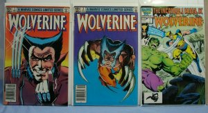 Wolverine (Marvel Comics, 1982) Issues #1 & 2 AND Hulk & Wolverine #1 1986 L@@K