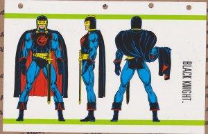 Official Handbook of the Marvel Universe Sheet- Black Knight