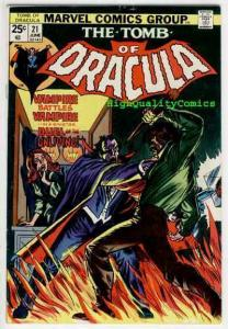 TOMB of DRACULA #21, FN+, Vampire, Blade, Marv Wolfman, 1972, Colan, Tom Palmer