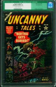 UNCANNY TALES #12-CGC 9.0-White Mountain Pedigree-Atlas Horror 0006749018