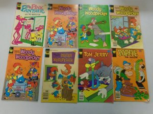 TV Cartoon comic lot 8 different titles 4.0 VG or better (Whitman)