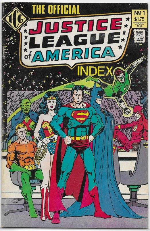 Official Justice League of America Index   #1 of 8 FN Perez cover