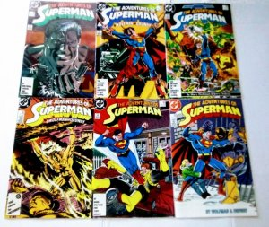 Adventures of Superman Comic Book Lot of 6 High Grade (cl#01)