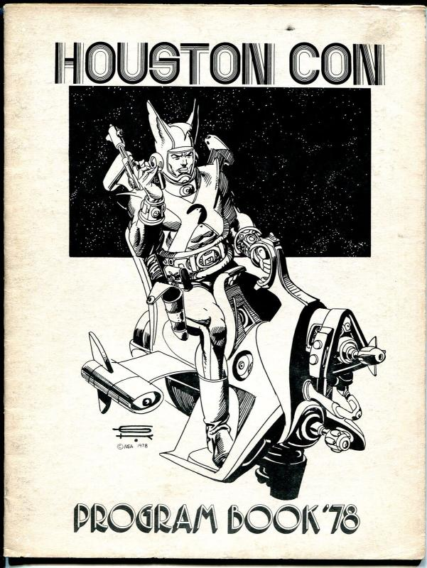 Houston Con Program Book 1978-Gil Kane cover-Harryhausen-Jenette Kahn-VG