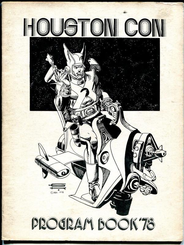 Houston Con Program Book 1978-Gil Kane cover-Harryhausen-Jenette Kahn-VG