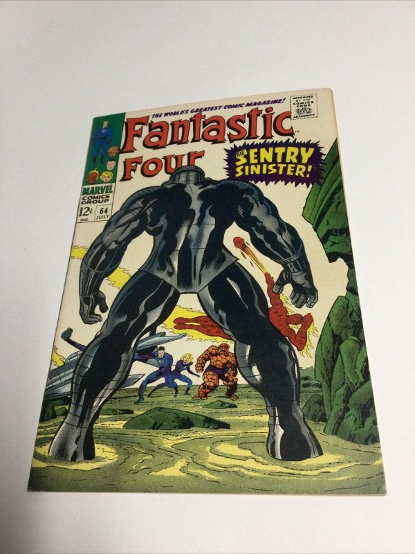 Fantastic Four 64 Vf Very Fine 8.0 Marvel Comics