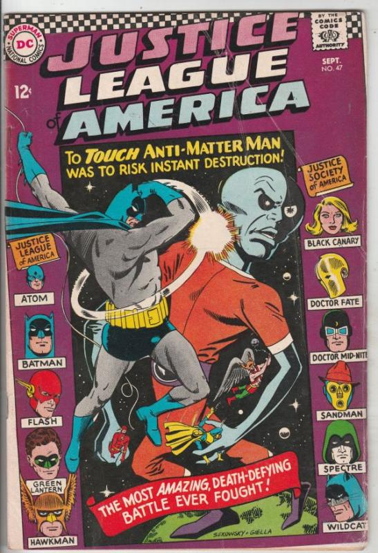Justice League of America #47 (Sep-66) VG+ Affordable-Grade Justice League of...