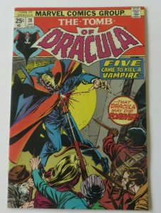 Tomb of Dracula #28 VF/NM Blade Cover 1st Print Marvel Bronze Age Horror Comic