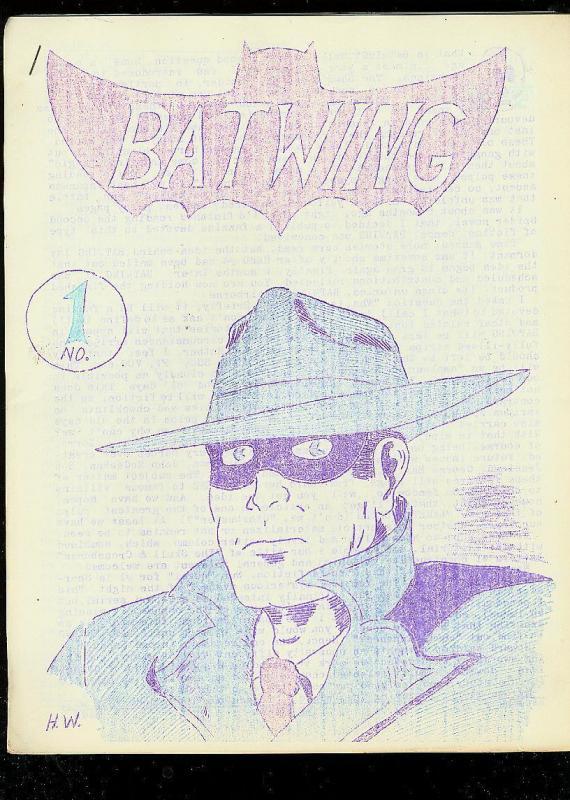 BATWING -#1-RARE PULP & COMIC FANZINE-SPIRIT COVER-1965 VG