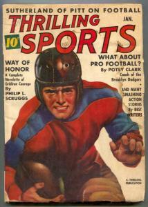 Thrilling Sports Pulp January 1938- Potsy Clark FAIR