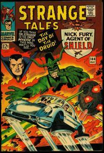 Strange Tales #144 1966- Nick Fury- Dr Strange- Kirby- Ditko