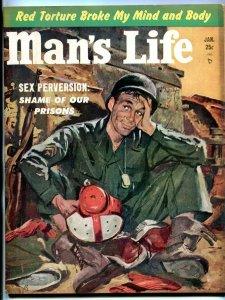 Man's Life Magazine #2 January 1953-DALLAS TEXANS-NFL-PRISON-ROBERT TURNER FN-