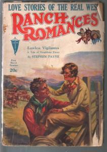 Ranch Romances 3/1/1933-Lawless Vigilntes-Stephen Payne-VG