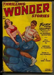 Thrilling Wonder Stories-Pulp-8/1949-Arthur C. Clark-A. E. Van Vogt