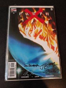EARTHX #0 SIGNED BY ALEX ROSS, JIM KRUEGER,JEAN PAUL LEON & BILL REINHOLD
