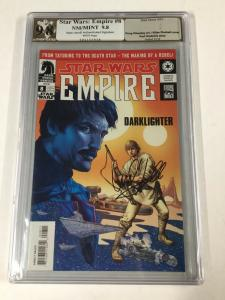 Star Wars Empire 8 Pgx (like Cgc) Authenticated Ss Signed Series Mark Hamill