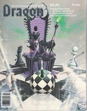 TSR DRAGON MAGAZINE #118 VF