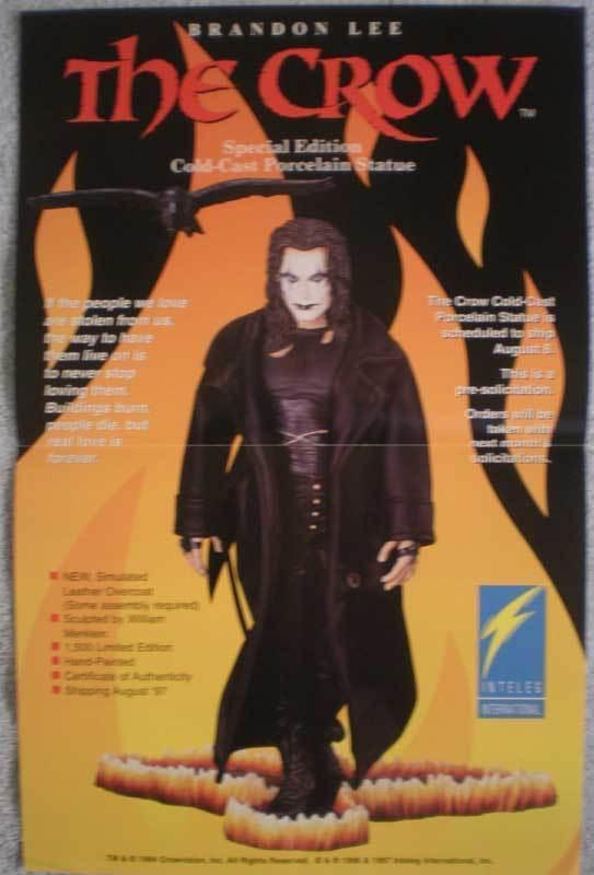 CROW STATUE Promo poster, 11 x 17, 1997, Unused, more in our store
