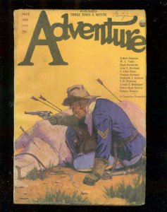 ADVENTURE PULP-5/10/23-INDIAN ATTACK COVER-WC TUTTLE-very good/fine VG/FN