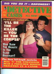 DETECTIVE CASES-AUG 1995-G/VG-HARD BOILED-SPICY-MURDER-RAPE-STRANGULATION G/VG