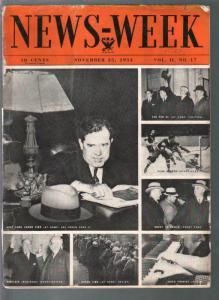 Newsweek 11/25/1933-Huey Long-Stalin-FDR-Hitler-Goering-G