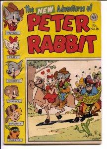 Peter Rabbit #16 1953-Avon-funny animals-puzzle pages-bondage cover-VG
