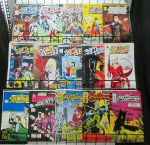 Swiftsure (Harrier Comics 1985) #1-5, 7-13, 15-17 Lot SF Anthology Baskerville