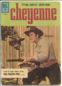 Cheyenne #23 1961-Dell-Clint Walker TV series photo cover-western stories-G