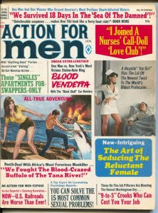 Action For Men 1/1972-shark cover & story-Copeland-Pollen-Minney-exploitation-VG