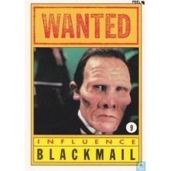 1990 Topps DICK TRACY-INFLUENCE:BLACKMAIL #9 Puzzle Sticker NM-