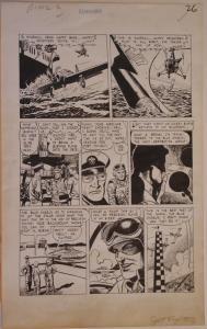 JOHN CELARDO original art, JET FIGHTERS #6, pgs 24-30, 1952, 7 pgs, Blue Angels