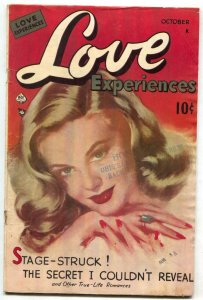 Love Experiences #1 1949- Ace Golden Age Romance Comic VG