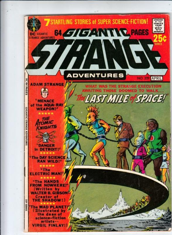 Strange Adventures #229 (Apr-71) VF High-Grade Adam Strange, Alana