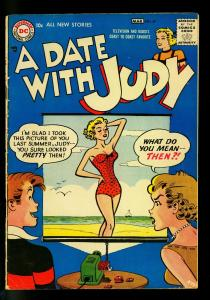 Date with Judy #57 1957- Swimsuit slide projector cover- DC Humor- G/VG