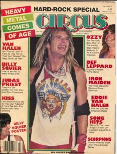 Circus 5/31/1983-Heavy Metal-David Lee Roth-AC/DC-Billy Squire-VG