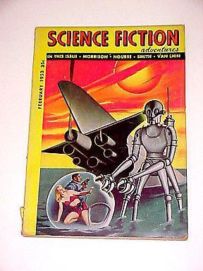 SCIENCE FICTION ADVENTURES-ROBOT CVR 2/1953 VG